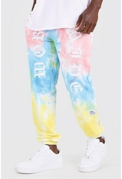 Pink Official MAN Worldwide Print Tie Dye Jogger