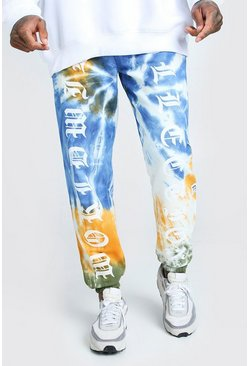 Green Official MAN Worldwide Print Tie Dye Jogger