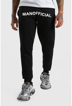 Black MAN Official Print Skinny Fit Jogger