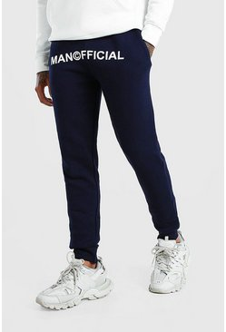 Navy MAN Official Print Skinny Fit Jogger