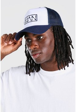 Navy MAN Dash Box 2 Colour Trucker Cap