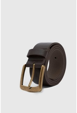 Brown Casual Leather Look Jeans Belt