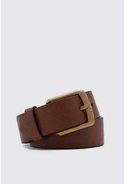 Tan brown Casual Faux Leather Jeans Belt