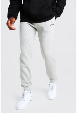 Grey MAN Signature Slim Fit Joggers