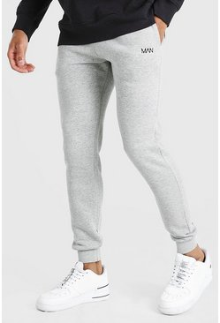 Grey grå Original MAN Joggers i skinny fit