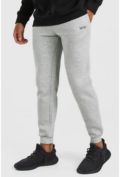 Grey grå Original MAN Joggers i slim fit