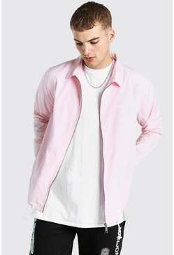 Pink MAN Official Zip Through Coach Jacket