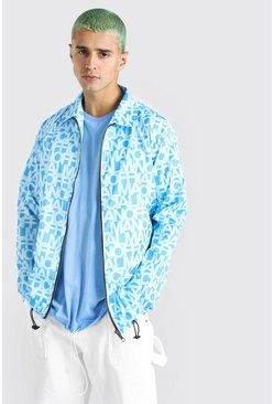 Blue MAN Official Zip Through Harrington