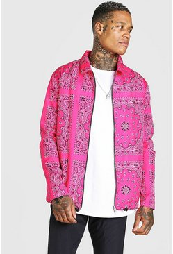 Harrington Bandana fermeture éclair, Rose