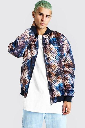 Multi Animal Printed Bomber