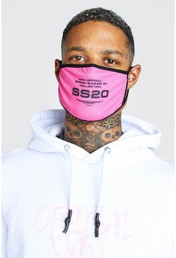 Pink Man Official SS20 Printed Fashion Mask