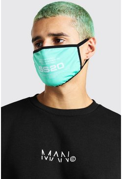 Green grön Man Official SS20 Printed Fashion Mask