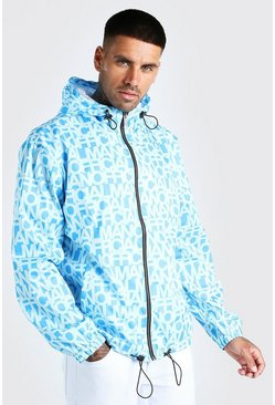 Blue Zip Through Cagoule