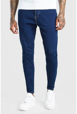 Donkerblauw blue Skinny fit jeans