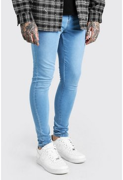 Light blue blue Spray On Skinny Fit Jeans