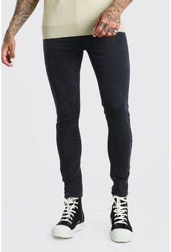 Jeans Super Skinny, Anthracite : gris