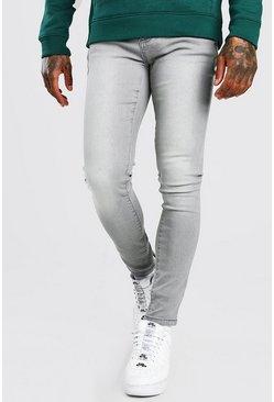 Light grey grey Super Skinny Jeans