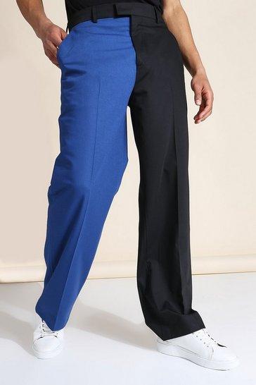 Multi Wide Leg Spliced Tailored Trouser