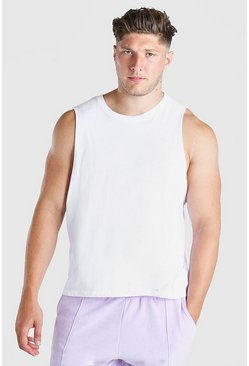 White Plus Size Basic Tank