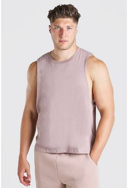 Schors brown Extra groot Basic tanktop