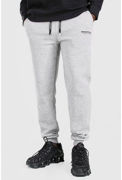 Grey marl grå MAN Official Elastic Waistband Slim Fit Jogger