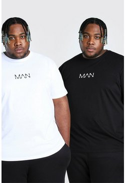 Multi Plus Size Man Dash T-Shirts (2 Stuks)