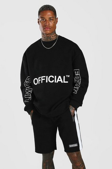 Black Official Ltd. Edition Print Short Sweater Tracksuit