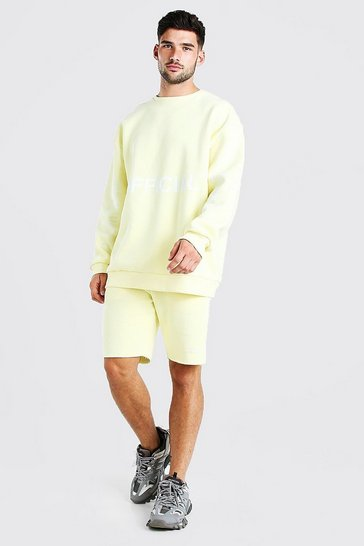 Yellow Official Ltd. Edition Short Sweater Tracksuit