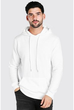 White Basic Over The Head Hoodie
