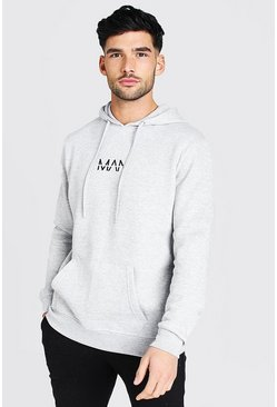 Grey marl grey Original MAN Over The Head Hoodie