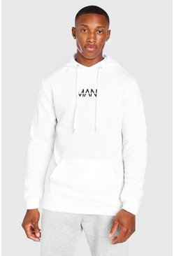 White Original MAN Over The Head Hoodie