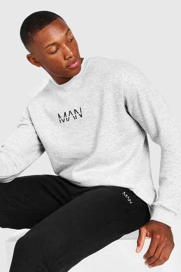 Grey marl grey Original MAN Sweatshirt
