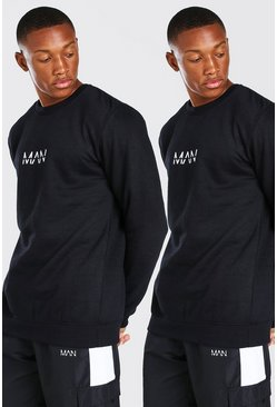 Black 2 Pack Original MAN Sweatshirt