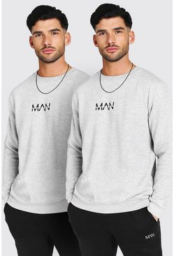 Grey marl grey 2 Pack Original MAN Sweatshirt