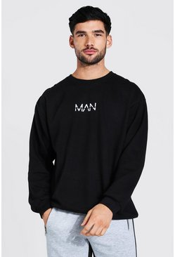 Black Oversized Original MAN Sweatshirt