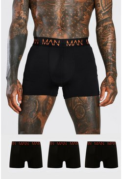 Black MAN Active 3 Pack Boxers