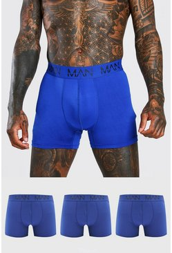MAN Active Boxers, 3er-Pack, Blau
