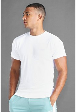 White MAN Active Poly T-Shirt
