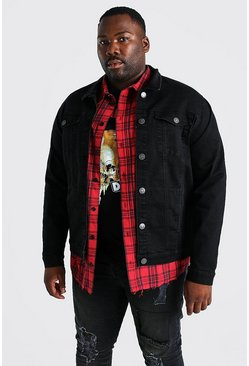Black Plus Size Stretch Denim Jacket