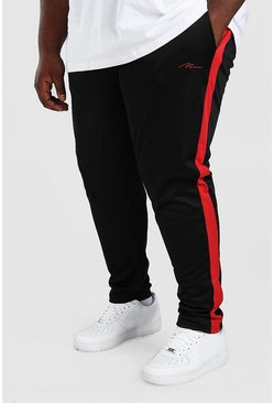 Black Plus Size MAN Signature Tricot Jogger
