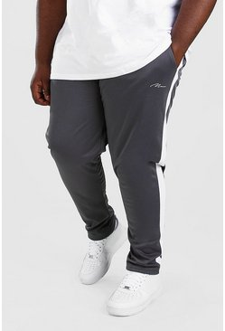 Slate grå Big And Tall MAN Signature Tricot Jogger