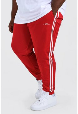 Red Plus Size MAN Signature Tricot Cuff Jogger