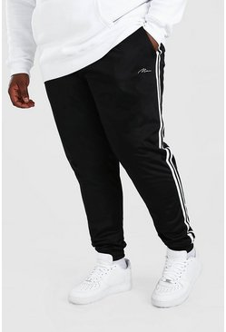 Black Plus Size MAN Signature Tricot Cuff Jogger