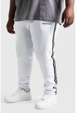 White Plus Size MAN Official Jogger