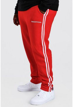 Red röd Big And Tall MAN Official Jogger