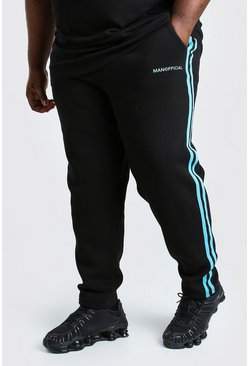 Black svart Big & Tall - Man Official Joggers