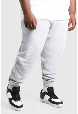 Grey marl grey Plus Size MAN Signature Jogger