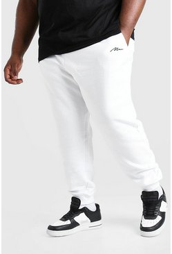 White Plus Size MAN Signature Jogger