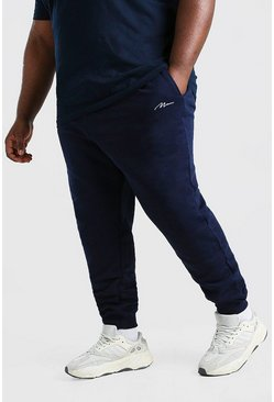 Navy Plus Size MAN Signature Jogger