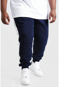 Navy Plus Size MAN Official Panel Jogger